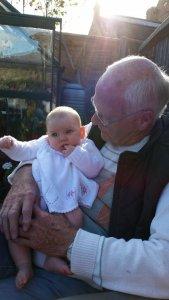 Isla and Great-Grandad