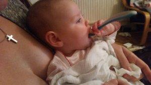 Feeding herself