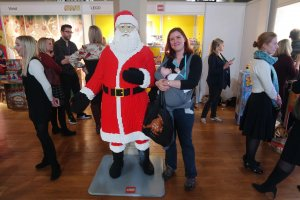 Making friends with Lego Santa