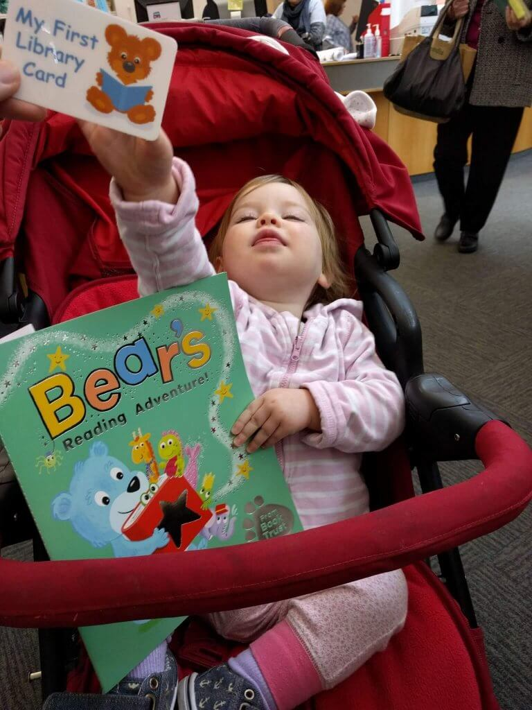 Sign Isla up to the library #101in1001